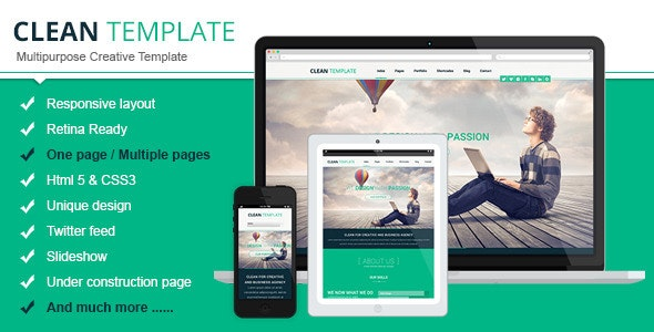 Clean Responsive Html Template - Creative Site Templates
