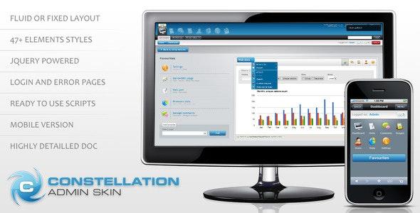 Constellation complete admin skin - Admin Templates Site Templates