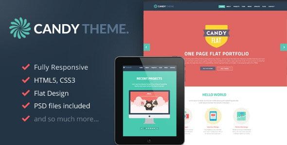 Candy - Onepage Flat Responsive WordPress Theme - Creative WordPress