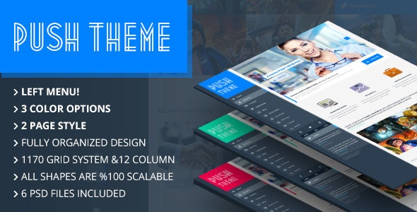 Push One Page Theme - Creative Photoshop