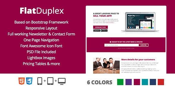 FlatDuplex Landingpage - Marketing Corporate