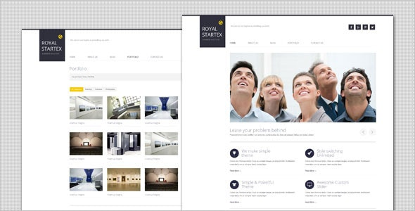 RoyalStartex - Minimalist Business WordPress Theme - Business Corporate