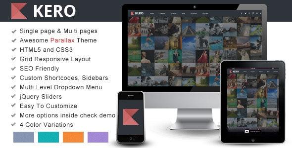 KERO – Interactive Parallax - Responsive Template - Site Templates