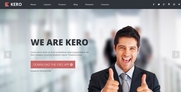 KERO – Interactive Parallax - Responsive Template