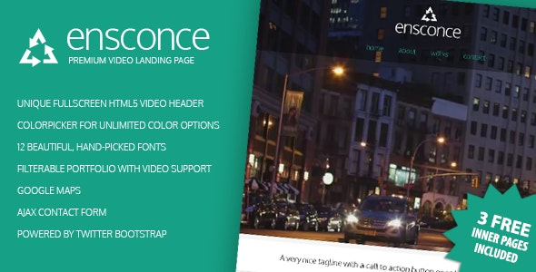 Ensconce - Premium Video Landing Page - Creative Landing Pages