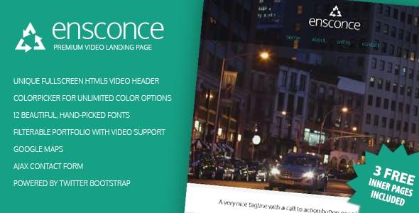 Ensconce - Premium Video Landing Page