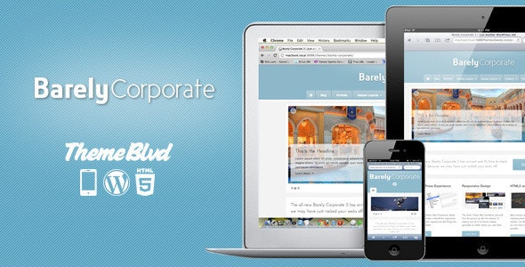 Barely Corporate Responsive WordPress Theme - Business Corporate