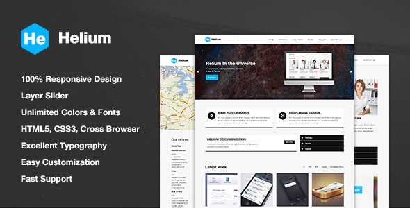 Helium Responsive HTML5/CSS3 Template - Business Corporate
