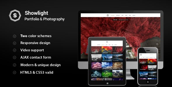 Showlight - Portfolio & Photography Template