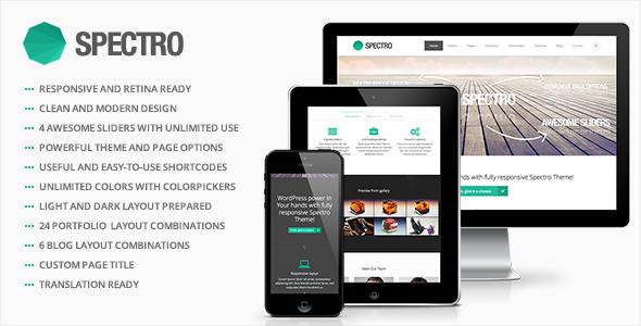 Spectro - Responsive Multi-Purpose WordPress Theme - Business Corporate