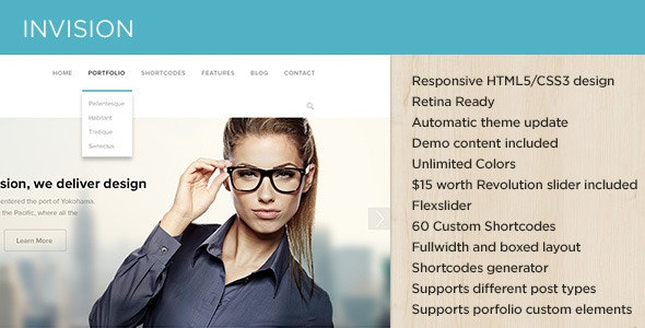 INVISION Responsive Corporate WP Theme - Business Corporate
