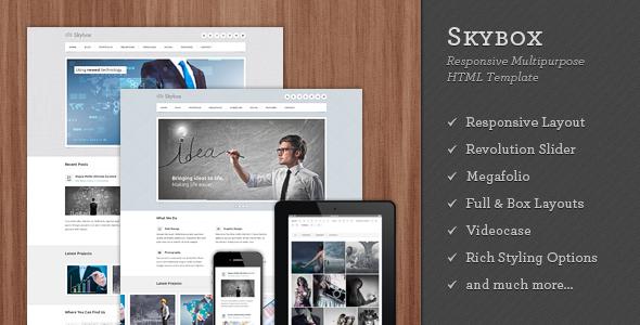 Skybox - Responsive Multipurpose HTML Template - Corporate Site Templates