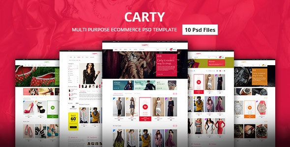 Carty - Premium eCommerce PSD Template - Fashion Retail