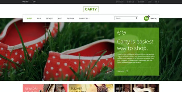 Carty - Premium eCommerce PSD Template