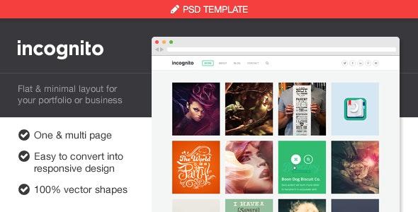 Incognito Portfolio & Business PSD Template - Creative Photoshop