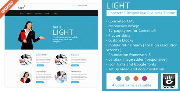 Download Light - Concrete5 Business Theme