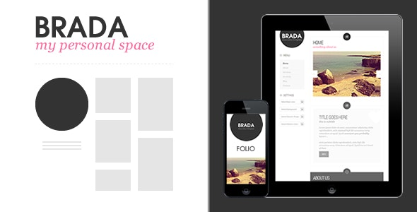 Brada Innovative Wordpress Template - Creative WordPress