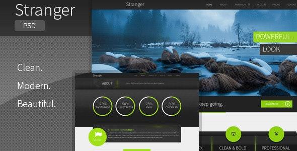 Stranger - Multi-purpose PSD Template - Creative Photoshop