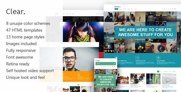 Clear - Professional HTML5 Creative Template - Creative Site Templates