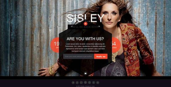 Sisley - Responsive Coming Soon Template