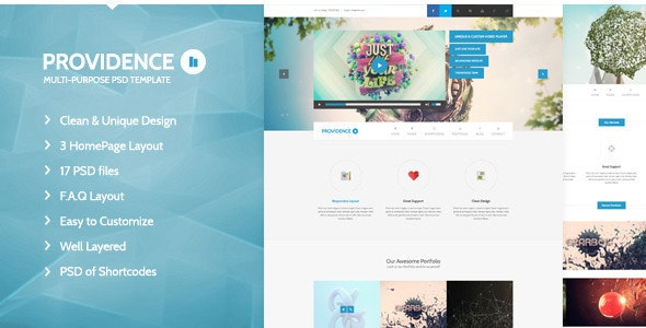 Providence - Multi Purpose PSD Template - Photoshop UI Templates