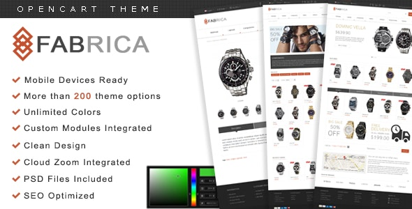Fabrica - OpenCart Premium Theme - OpenCart eCommerce
