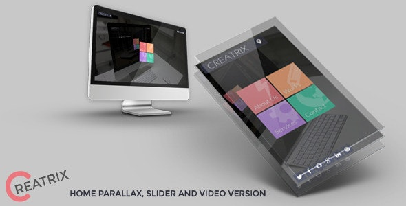 Creatrix - Flat Responsive Template - Portfolio Creative