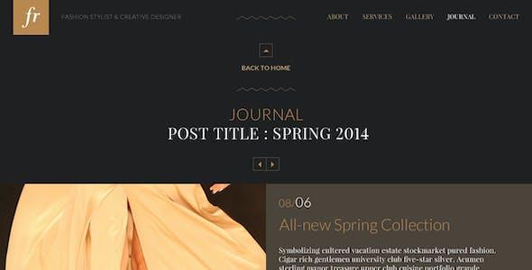 FR – Elegant One Page Fashion PSD Template