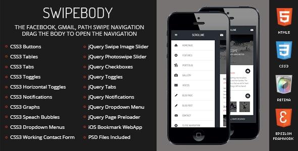 Swipebody Mobile - Mobile Site Templates
