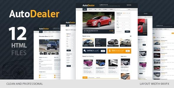 Auto Dealer - Car Dealer HTML Template - Retail Site Templates
