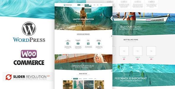 OceanPlaza WooCommerce Parallax Theme - Creative WordPress