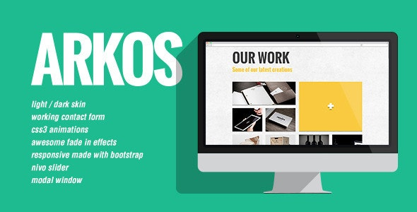 Arkos - Flat and responsive portfolio gallery - Creative Site Templates