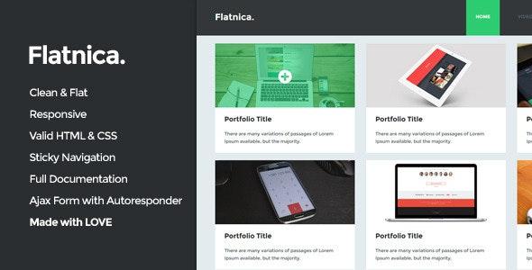 Flatnica - Ultimate Flat Template - Portfolio Creative
