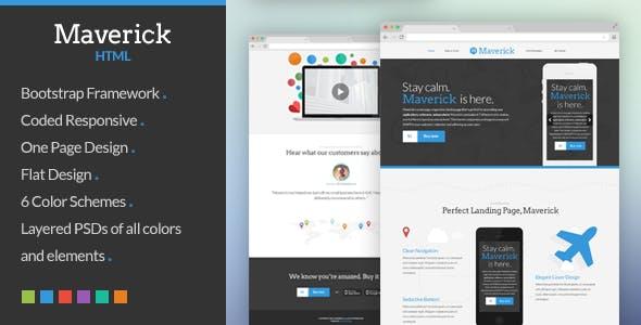 Maverick - App & Software Landing Page