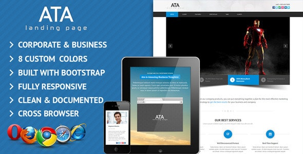 Ata Business/Corporate Landing Page Template - Business Corporate