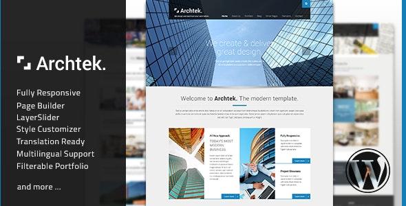 Archtek - Responsive Modern WordPress Theme - Business Corporate