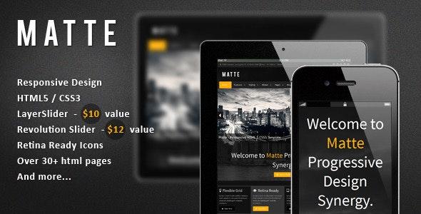 Matte - Responsive HTML5 Template - Creative Site Templates