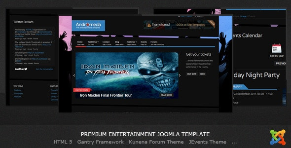 Andromeda - Entertainment Joomla Template by Demente_Design
