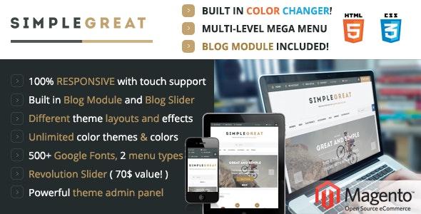 SimpleGreat – Premium Responsive Magento theme! - Shopping Magento