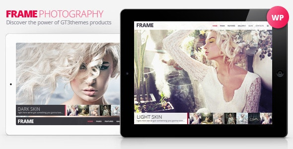 Photography Minimalistic WP Theme - Frame - Photography Creative