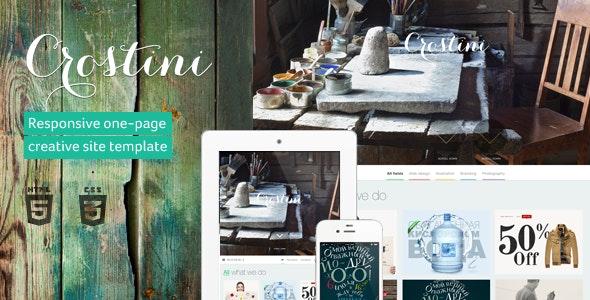 Crostini - Responsive One-page Portfolio Template - Portfolio Creative