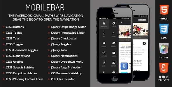 Mobilebar Mobile - Mobile Site Templates