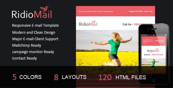 Ridio Mail- Responsive E-mail Template