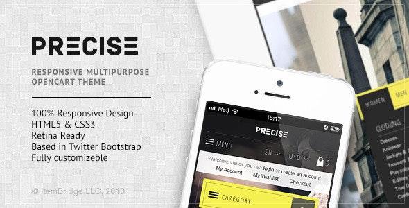 Precise — Multipurpose Responsive OpenCart Theme - OpenCart eCommerce