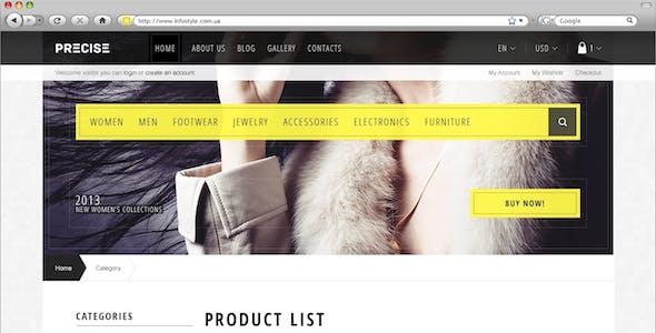 Precise — Multipurpose Responsive OpenCart Theme