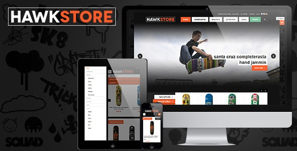 JM Hawkstore - Magento theme for Skating store - Fashion Magento
