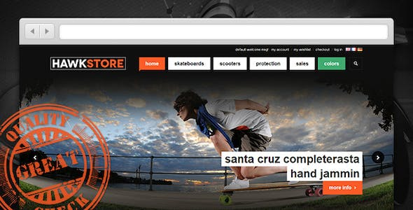 JM Hawkstore - Magento theme for Skating store