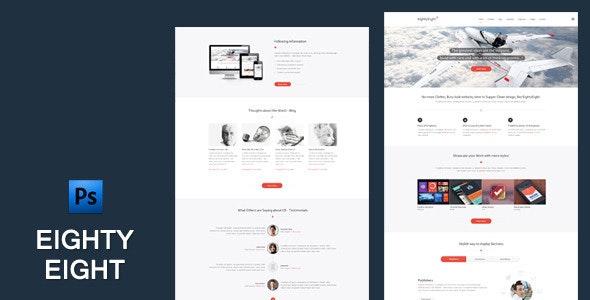 EightyEight - Multi Purpose PSD Template - Business Corporate