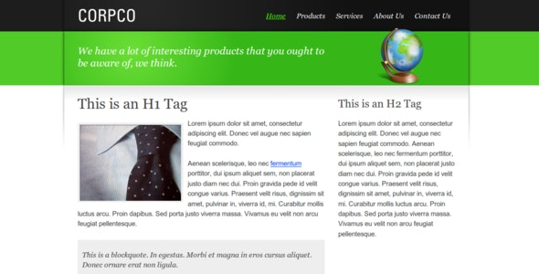 Slick Corporate - Corporate Site Templates