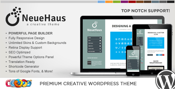 WP Neuehaus Responsive Creative WordPress Theme - Portfolio Creative